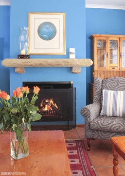 Clarens, accommodation, one self-catering, fireplace, Beethoven Lodge